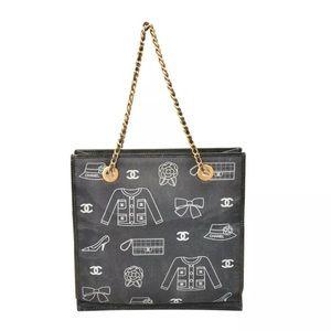 CHANEL Illustration Chain Tote Bag